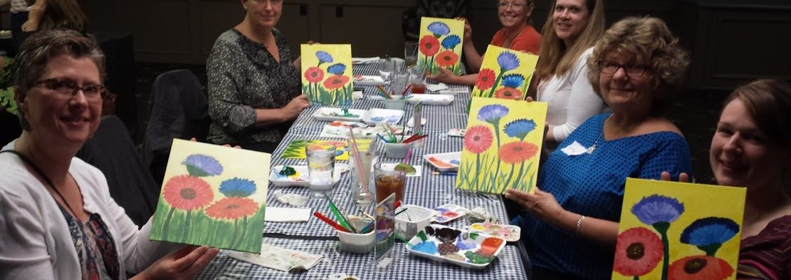 Community Services Adult Enrichment Paint Night