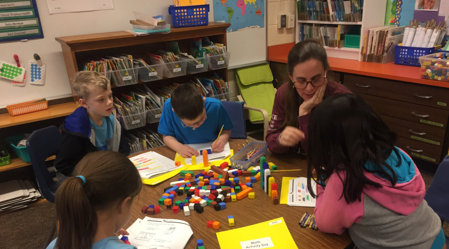 Mrs. Zach's Greenvale Park First Graders Participate In Math Activity Day Each Friday