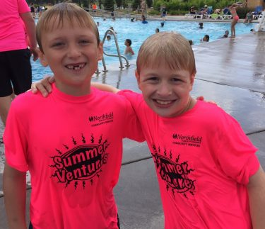 2 boys at waterpark with KidVentures Summer program