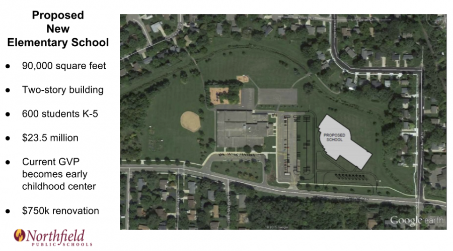 Concept draft of new elementary school on the current Greenvale Park Elementary Campus