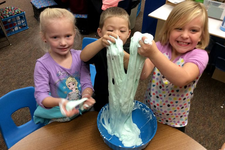 Greenvale Students Making Slime