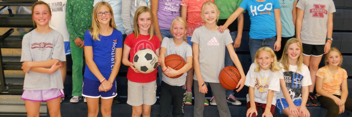 Birthday Party Group of Girls playing basketball