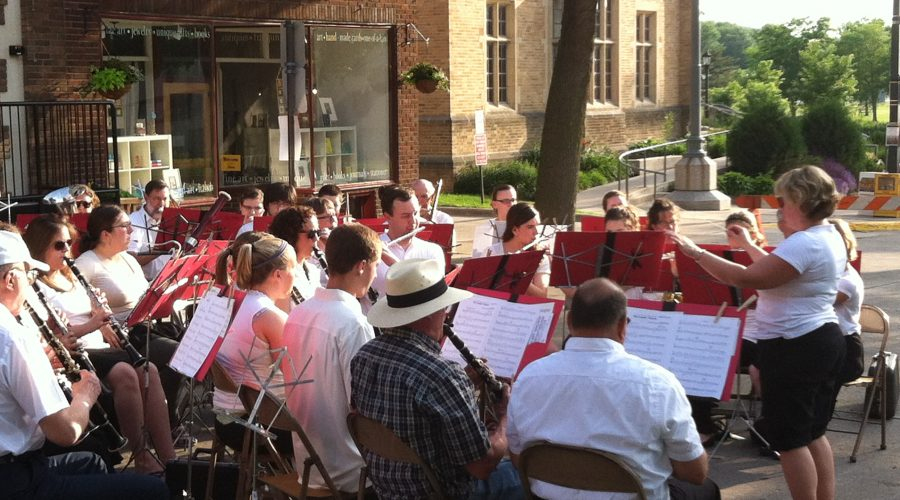 Community Band Plays in Bridge Square