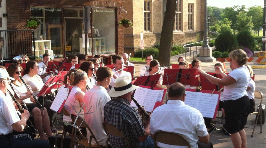 Community Band Plays in Bridge Square